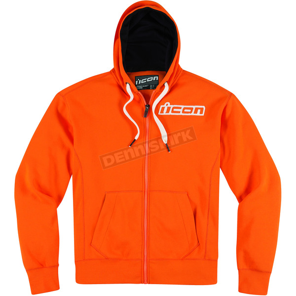 Icon Orange Upper Slant Zip-Up Hoody - 3050-2190