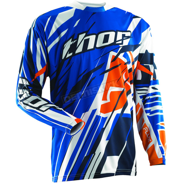 Thor Blue Flux Shred Jersey - 2910-2788