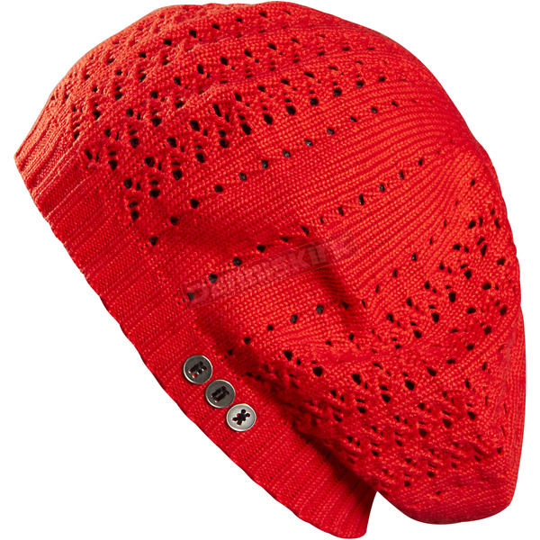 Fox Womens Orange Flame Viper Beret Beanie - 07079-104-OS