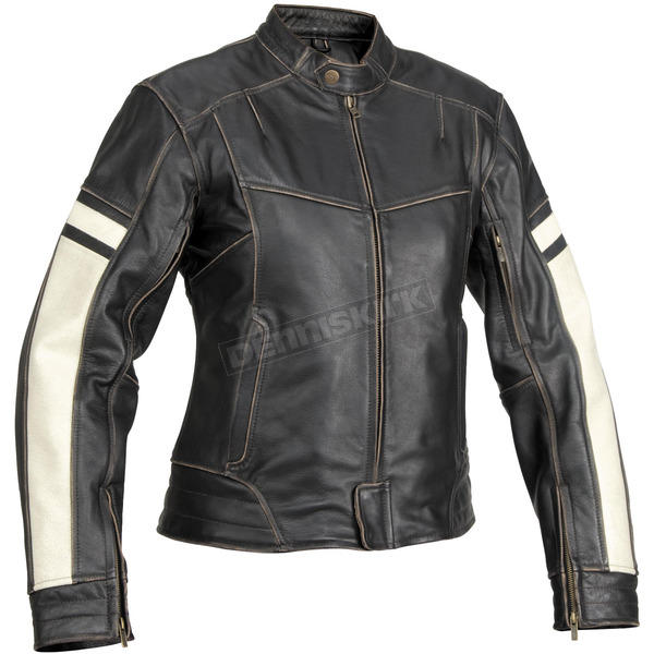 River Road Womens Dame Vintage Leather Jacket - 09-4858