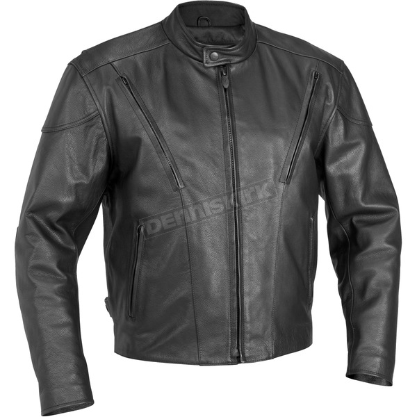 River Road Race Vented Leather Jacket - 09-3756
