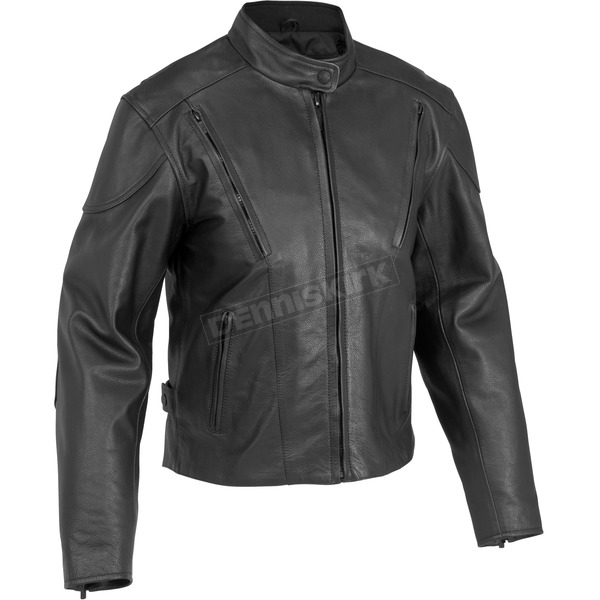 River Road Womens Race Vented Leather Jacket - 09-3766