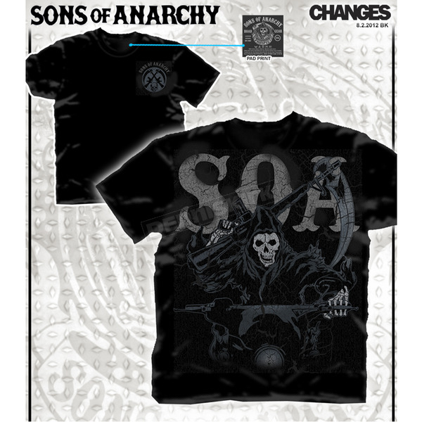 Sons of Anarchy Reaper Riding T-Shirt - 28-635-263-XXL