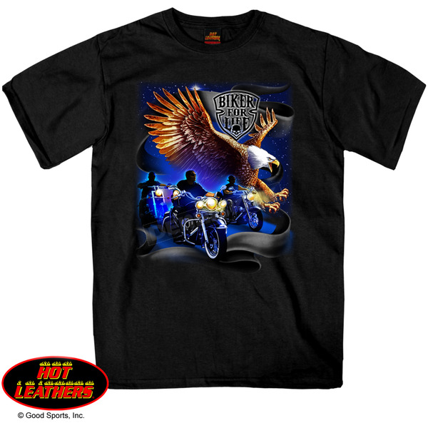 Hot Leathers Biker For Life T-Shirt - GMS1225XXXL