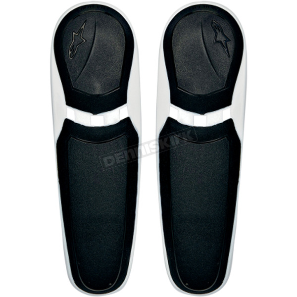 Alpinestars Black/White Replacement Toe Sliders for SMX Plus Boots - 25SLISMX13-21