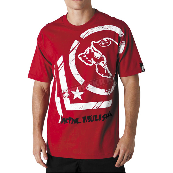 Metal Mulisha Punctured Red T-Shirt - 35-0340