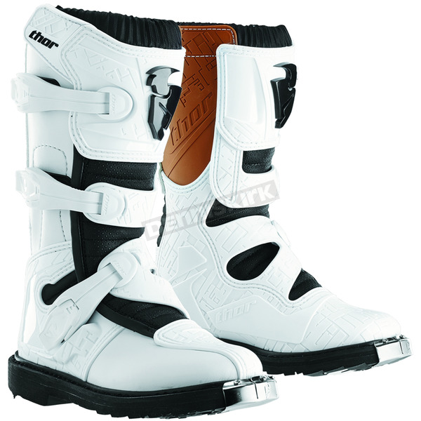 Thor Youth White Blitz CE Boots - 3411-0303