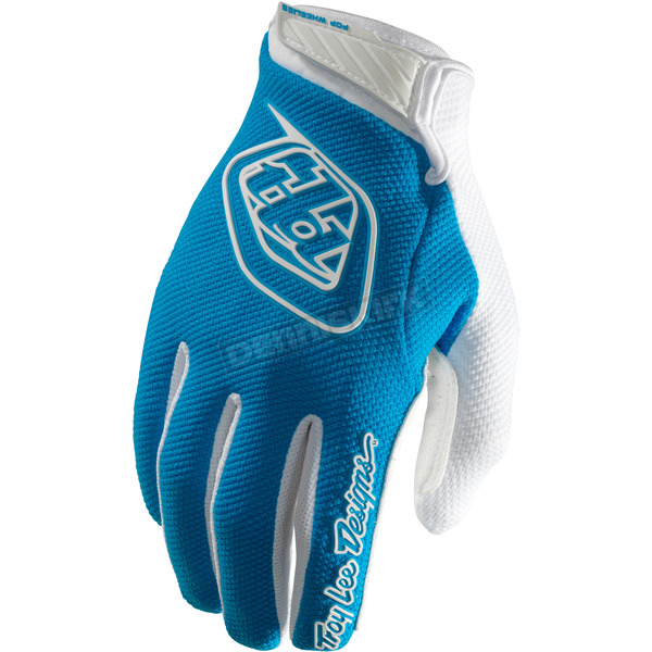 Troy Lee Designs Blue/White Air Gloves - 404003303