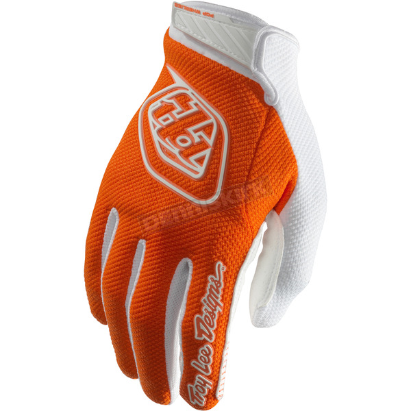Troy Lee Designs Orange/White Air Gloves - 404003702