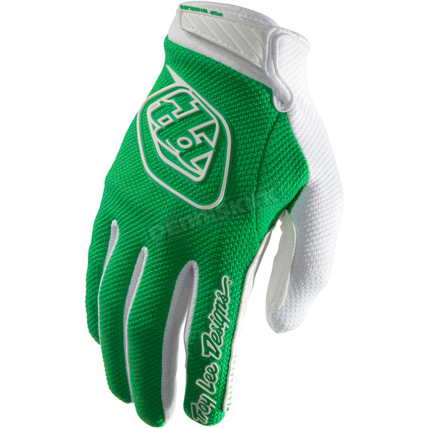 Troy Lee Designs Green/White Air Gloves - 0624-0810