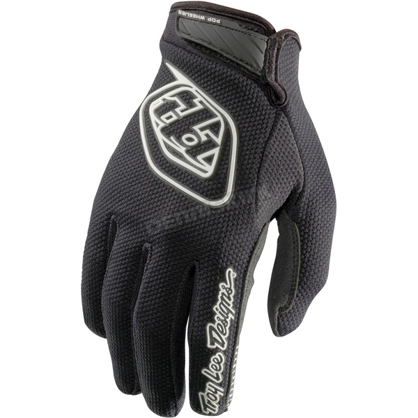 Troy Lee Designs Youth Black/White Air Gloves - 406003204