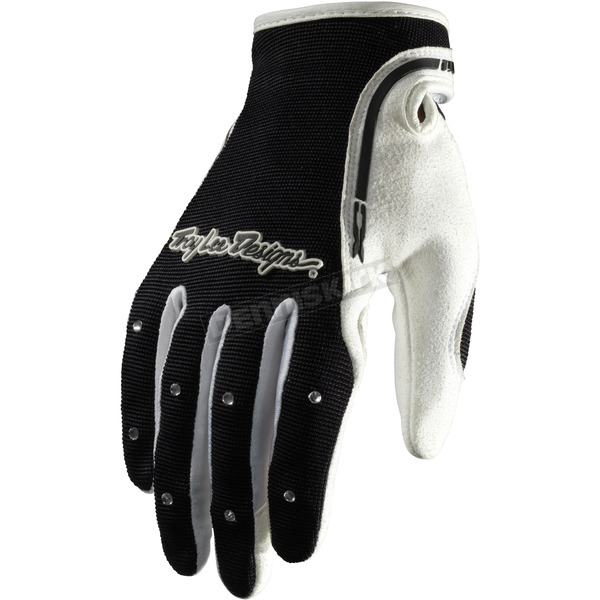 Troy Lee Designs Womens Black/White XC Gloves - 429003204