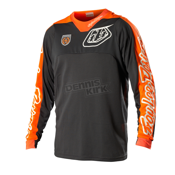 Troy Lee Designs Gray/Orange Corse SE Pro Jersey - 0704-1910