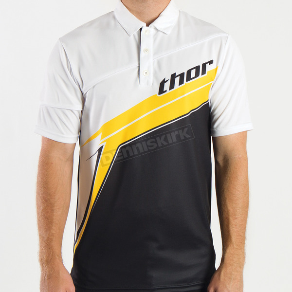Thor Pit Boss Black/Yellow Polo - 3040-1670