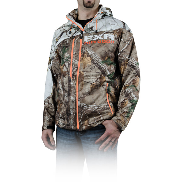 FXR Racing Realtree Xtra Snow Camo Vertical Softshell Hoody - 14132.03313
