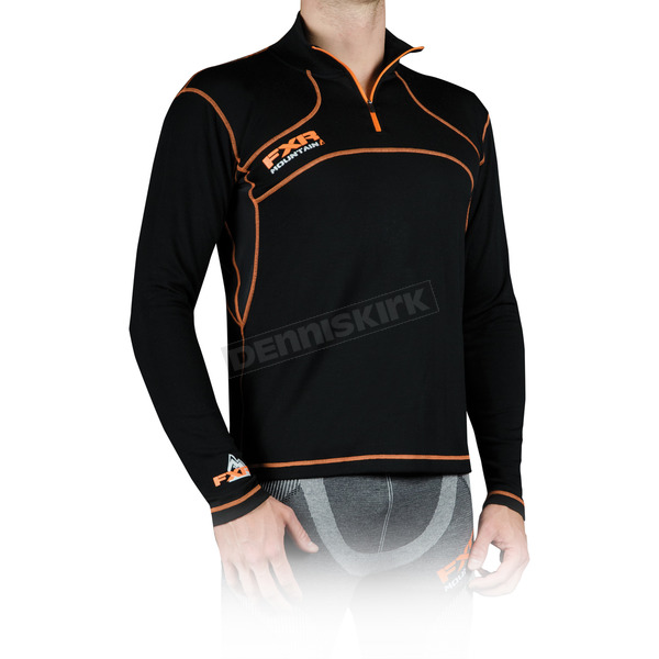 FXR Racing Black Merino 1/4 Zip Long Sleeve Shirt - 14809.10013