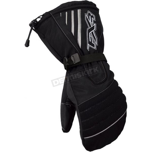 FXR Racing Womens Black Fuel Mitts - 2813.10016