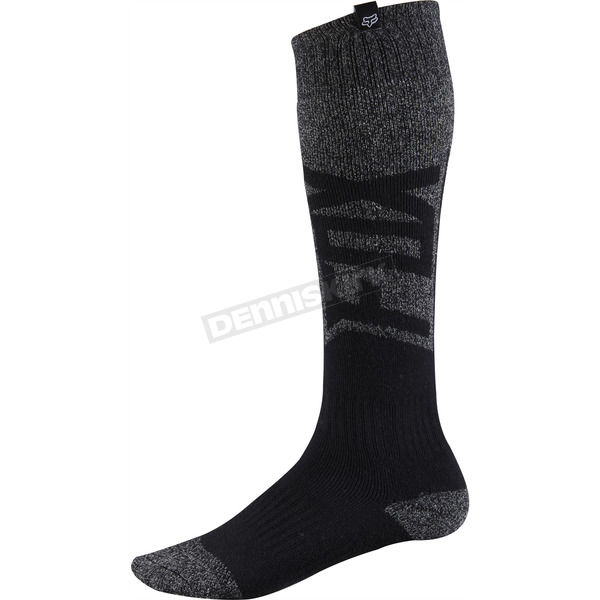 Fox Black/Gray Thick Coolmax Given Socks - 08011-014-L