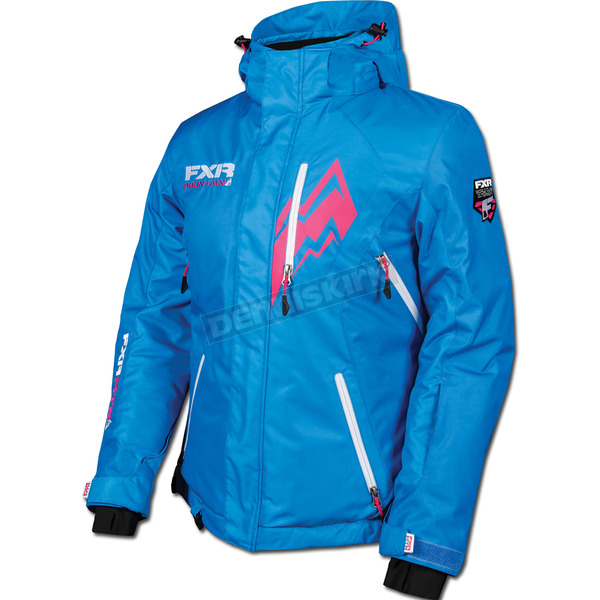 FXR Racing Womens Process Blue Pulse Jacket - 14226
