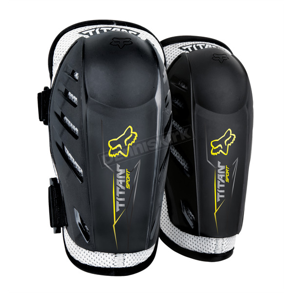 Fox Youth Black Titan Sport Elbow Guards - 04273-001-OS