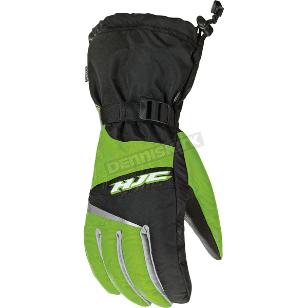 HJC Black/Green Storm Gloves - 1424-046