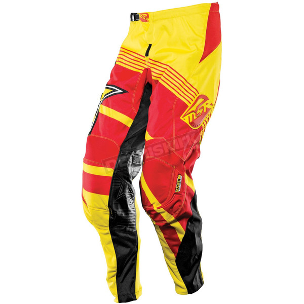 MSR Racing Youth Yellow/Red Rockstar Pants - 351690