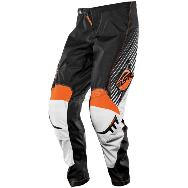 MSR Racing Black/White/Orange Axxis Pants - 351782