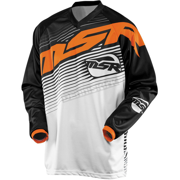 MSR Racing Youth Black/White/Orange Axxis Jersey - 351856