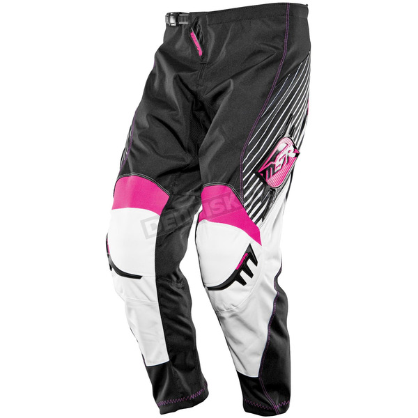 MSR Racing Girls Black/Pink Starlet Pants - 351956