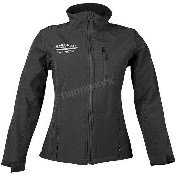 Honda Womens Black Goldwing Touring Soft Shell Jacket - 54-7357