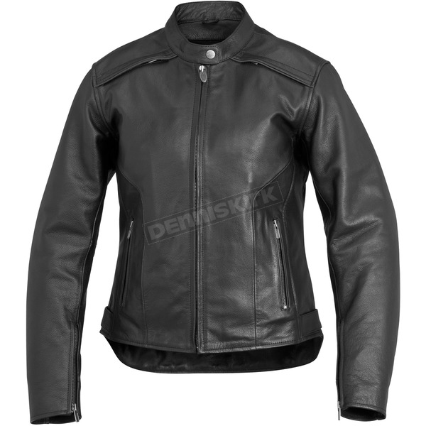 River Road Womens Black Savannah Cool Leather Jacket - 09-4983