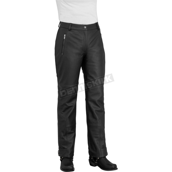 River Road Womens Black Sierra Cool Leather Pants - 09-4984