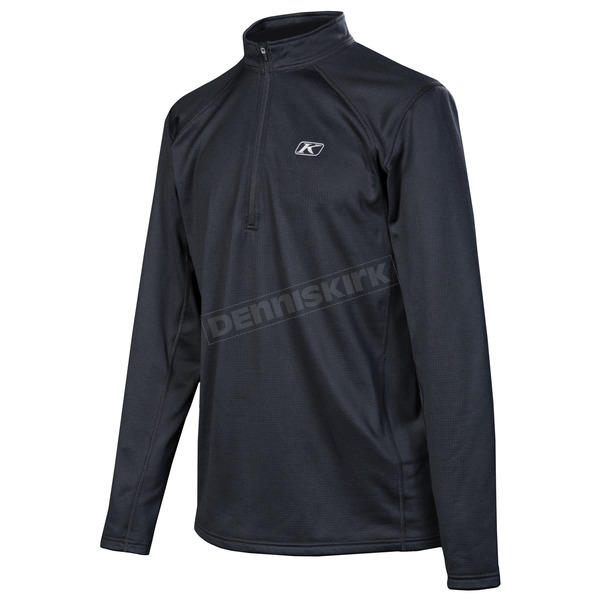 Klim Black Defender Quarter Zip Shirt (Non-Current) - 5080-000-140-000