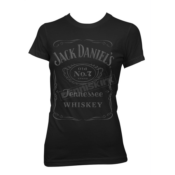 Jack Daniels Womens Black Raised Label T-Shirt - 33361476JD-89-S
