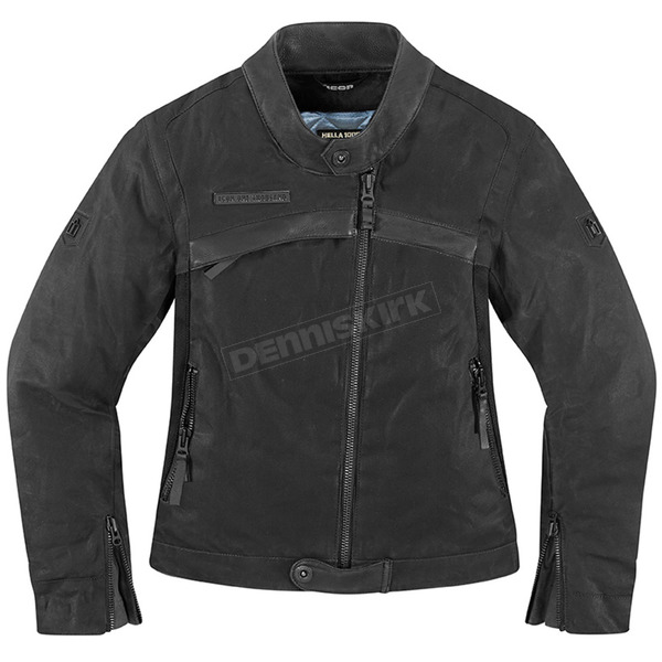 Icon 1000 Womens Black Hella 1000 Jacket - 2822-0665