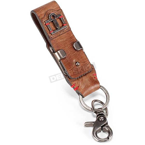 Icon 1000 Brown Leather Belt & Loop Keychain - 3070-0852