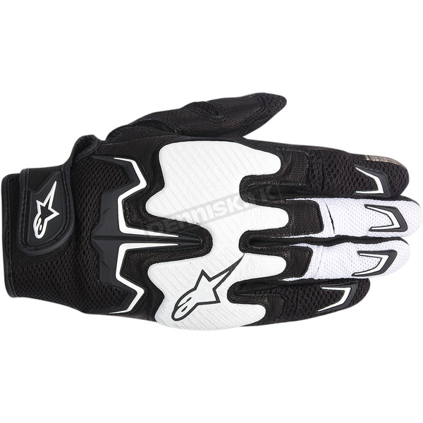 Alpinestars Black/White Fighter Air Gloves  - 3567514-12-S