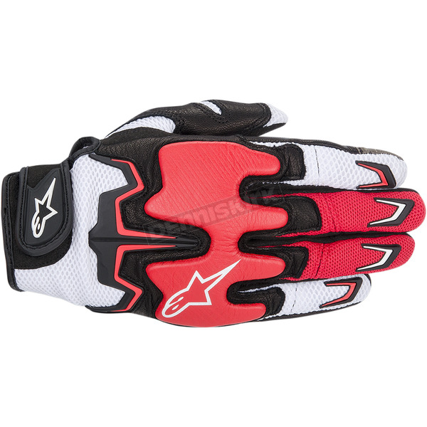 Alpinestars Black/White/Red Fighter Air Gloves  - 3567514-231-L