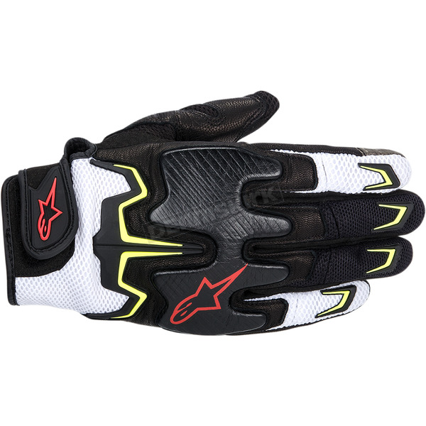 Alpinestars Black/White/Red/Yellow Fighter Air Gloves  - 3567514-1053-3X