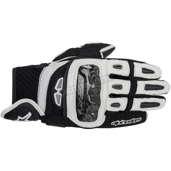 Alpinestars Black/White GP-Air Leather Gloves  - 3567914-12-M