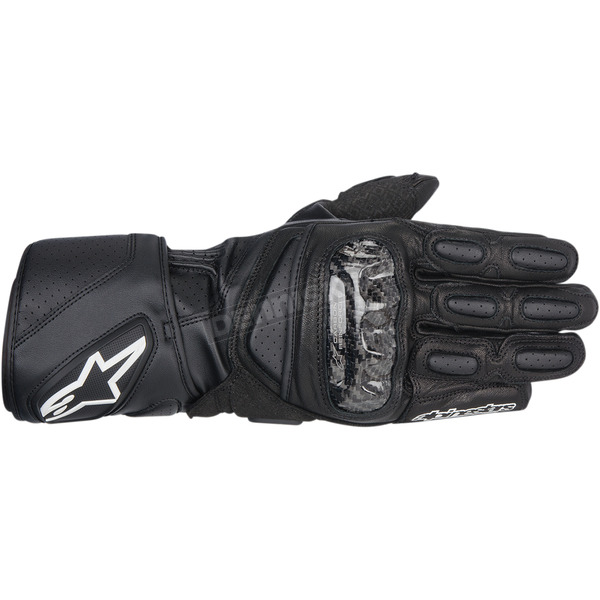 Alpinestars Black SP-2 Leather Gloves  - 3558214-10-S