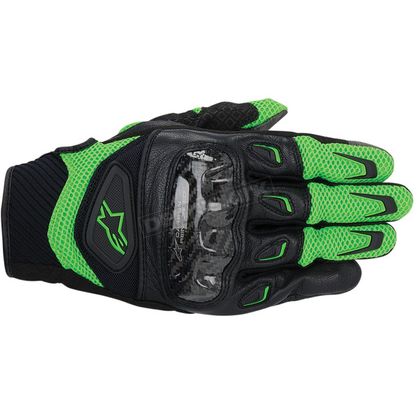 Alpinestars Green/Black SMX-2 Air Carbon Gloves  - 3567714-61-3X