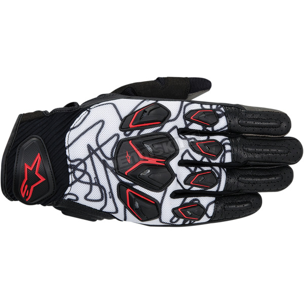 Alpinestars Black/White/Red Masai Gloves - 3567414-123-S