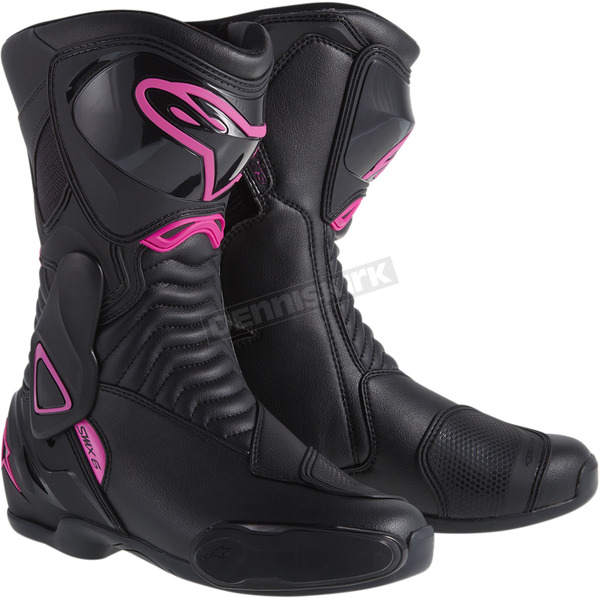 Alpinestars Womens Black/Pink Stella SMX-6 Boot  - 2223114-139-36