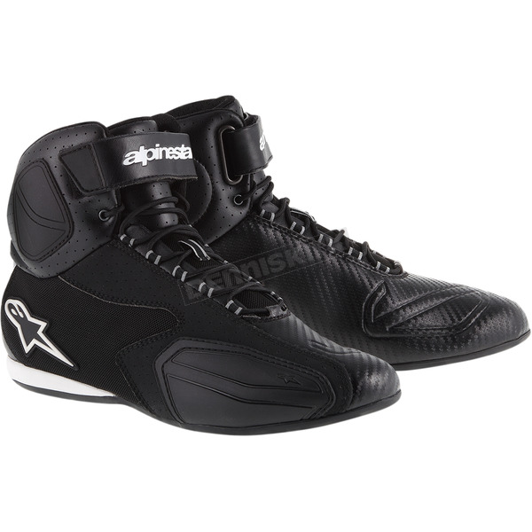 Alpinestars Black Faster Vented Shoes  - 251031410-7.5