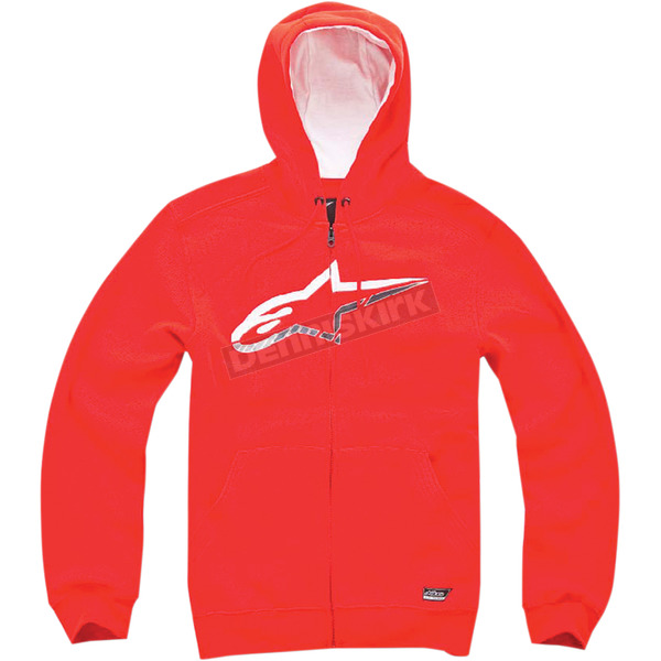 Alpinestars Red Chapman Zip Hoody - 1014530020302X