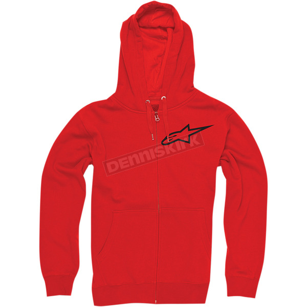 Alpinestars Red Ranking Zip Hoody - 103353004030L