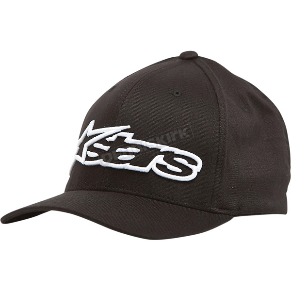 Alpinestars Black/White Blaze Flex-Fit Hat - 1039810051020LX