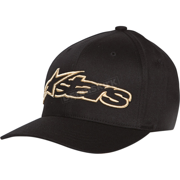 Alpinestars Black/Gold Blaze Flex-Fit Hat - 1039810051059SM