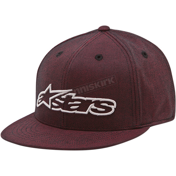 Alpinestars Red Bourke Flatbill Hat  - 101482000030LX